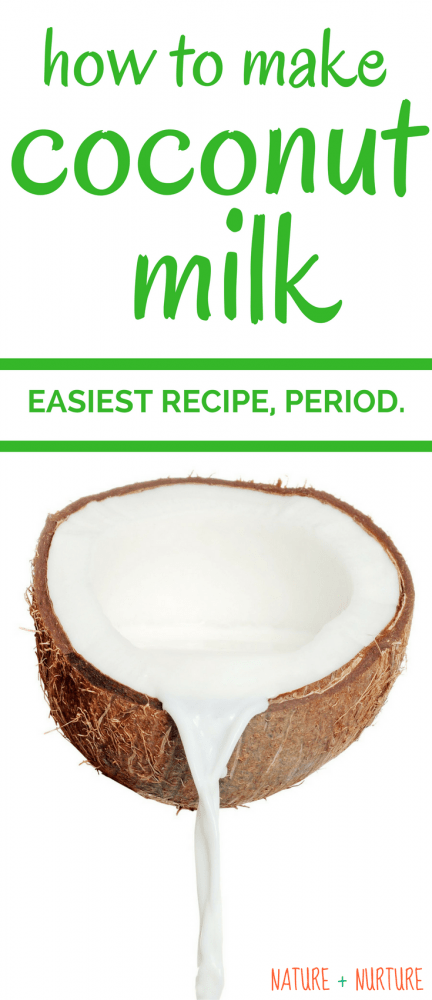 Homemade coconut milk is 'da bomb. Even better, its SUPER easy to make. In this tutorial, you'll learn how to make coconut milk from scratch in 5 minutes.