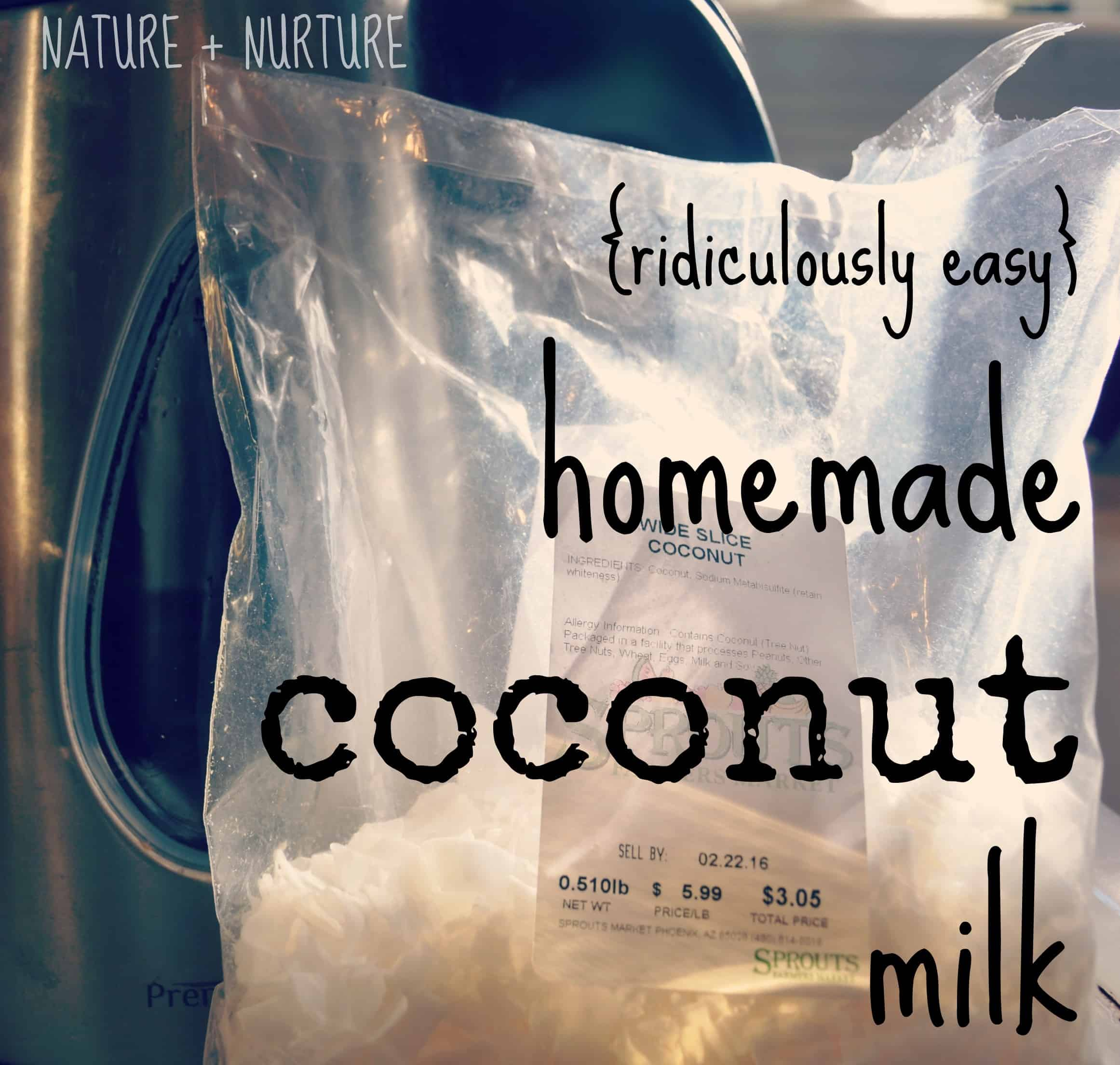 Homemade coconut milk is 'da bomb. Even better, its SUPER easy to make. In this tutorial, I'll teach you how to make coconut milk from scratch in 5 minutes.