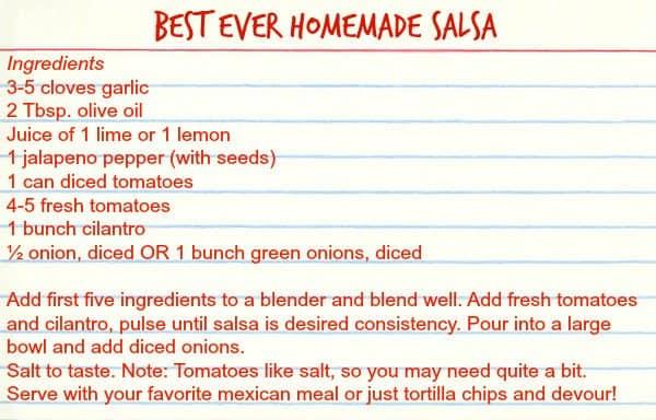 Best Ever Homemade Salsa