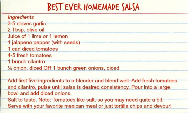 The Only Homemade Salsa Recipe You'll Ever Need!