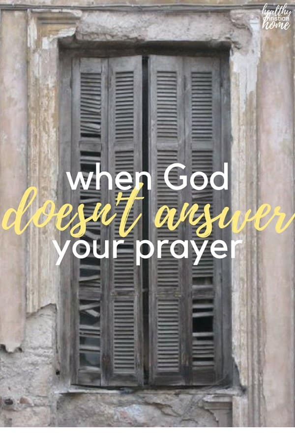 Why won't God answer my prayer? Everyone asks this question at some point in life. Here are some points to ponder for when God doesn't answer your prayer the way you think He should.