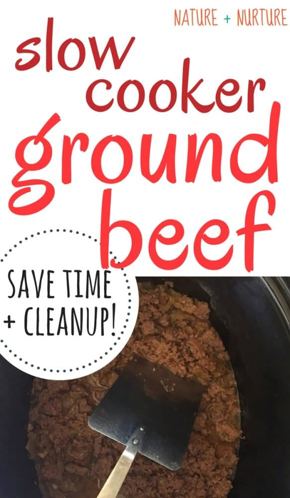 Did you know you can make slow cooker ground beef? This method will change the way you cook your meat - simple, quick, and less mess!
