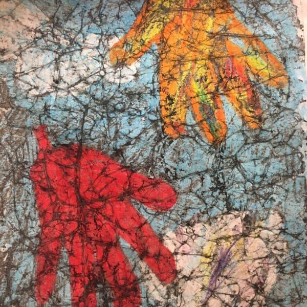 Fall Leaf Craft for Kids (Handprint Paper Batik Tutorial)