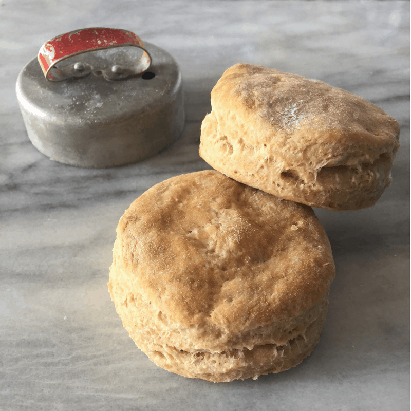 Homemade biscuits that are fluffy, soft, and buttery. A healthier version with no shortening and non-GMO flour that doesn't sacrifice flavor.