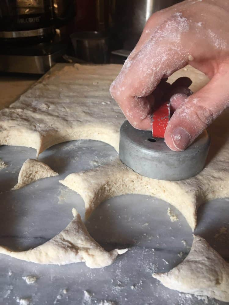 using the biscuit cutter