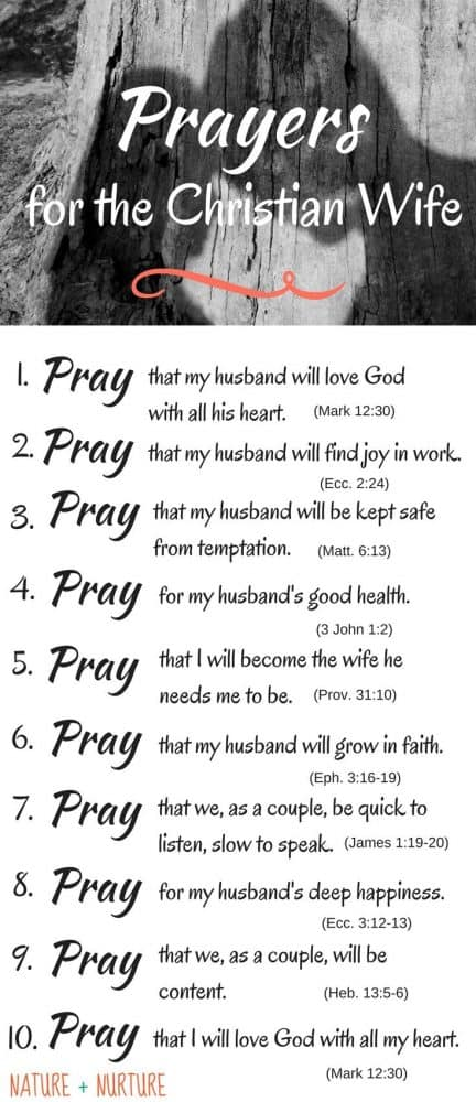 Find out how to strengthen your marriage today by praying for your husband with 10 specific marriage prayers to bless him and strengthen your relationship. Lifting up a daily prayer for my husband is the greatest thing I can do to encourage my husband as a Christian wife.