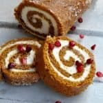 This easy pumpkin roll is delectable and actually healthy, too!