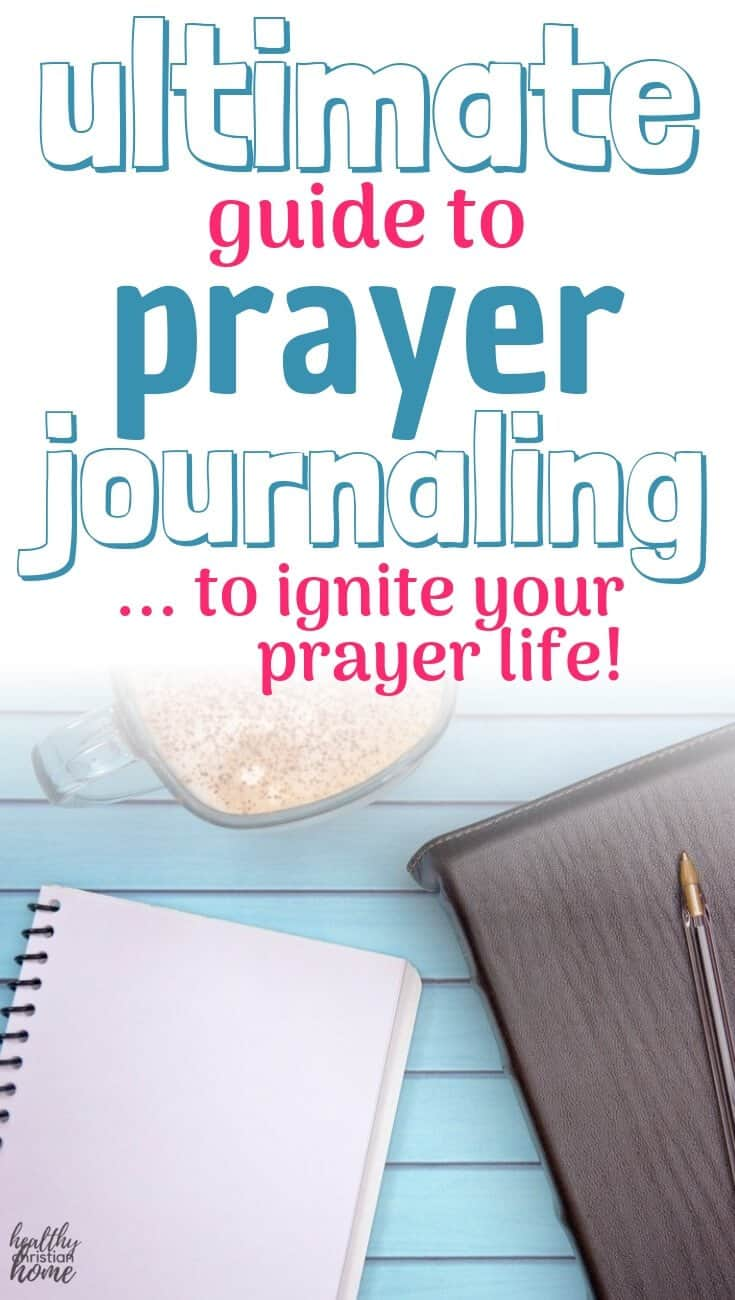 Prayer journaling pinterest image