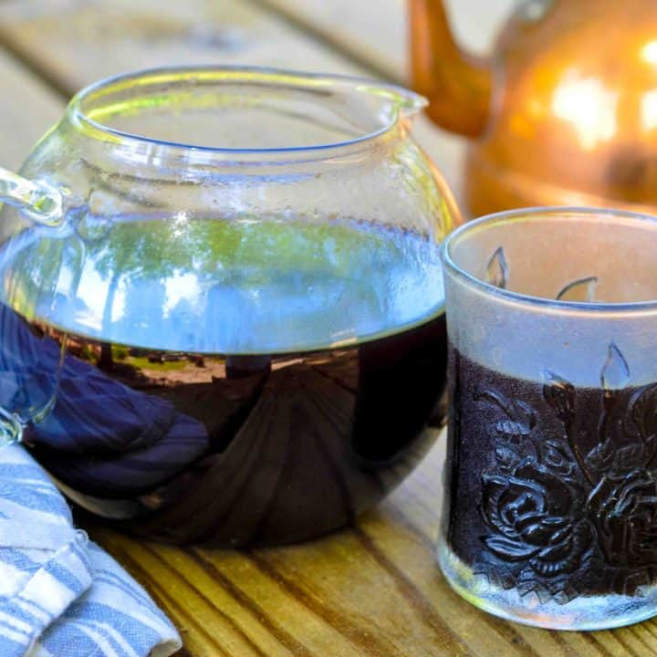 Immune Boosting Elderberry Tea (using dried elderberries)