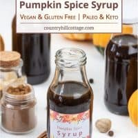 Pumpkin Spice Syrup Recipe – Vegan, GF, DF, Keto & Paleo Options