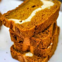 Pumpkin Cream Cheese Bread (low sugar)