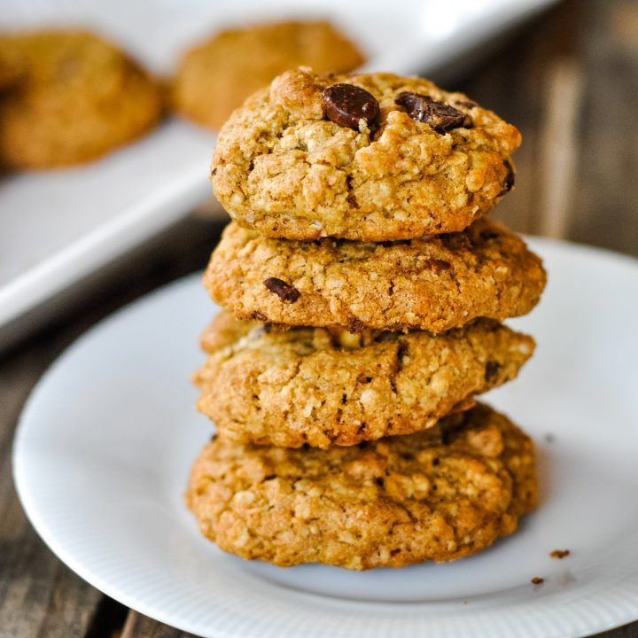 Healthy Cowboy Cookies (refined sugar free)