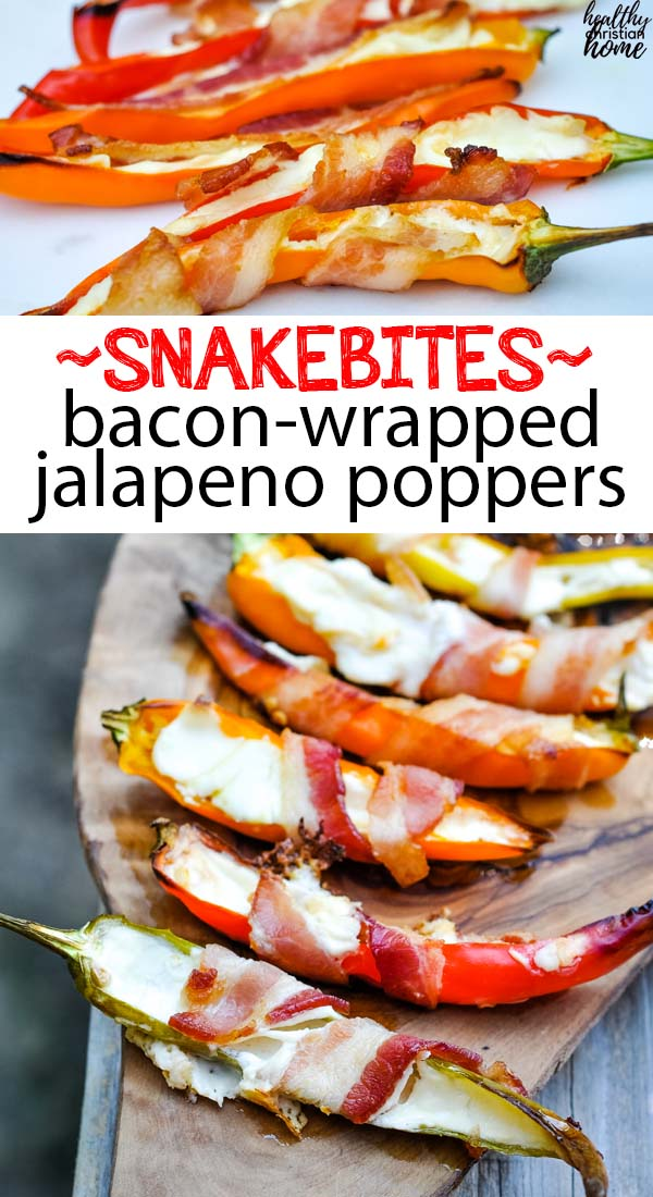 Bacon wrapped jalapeno poppers pinterest image.