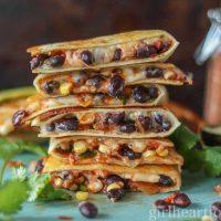 Black Bean Quesadillas {with cheese & corn}