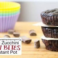 Chocolate Zucchini Muffin Bites