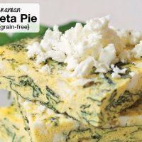 Instant Pot Mediterranean Spinach-Feta Pie {grain-free!}