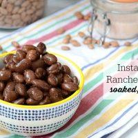 Instant Pot Ranchero Beans (nourishing, soaked, no gas!)