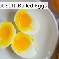 Instant Pot Soft-Boiled Eggs (perfectly runny yolks & no slimy whites!)