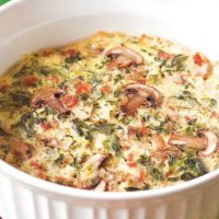 Instant Pot Crustless Veggie and Bacon Quiche
