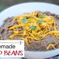Homemade Refried Beans (Stove Top, Instant Pot, Crock Pot)