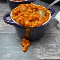 Smoky Slow Cooker Baked Beans