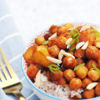 Chickpea Stir Fry with Pineapple (15 Minute Meal!)