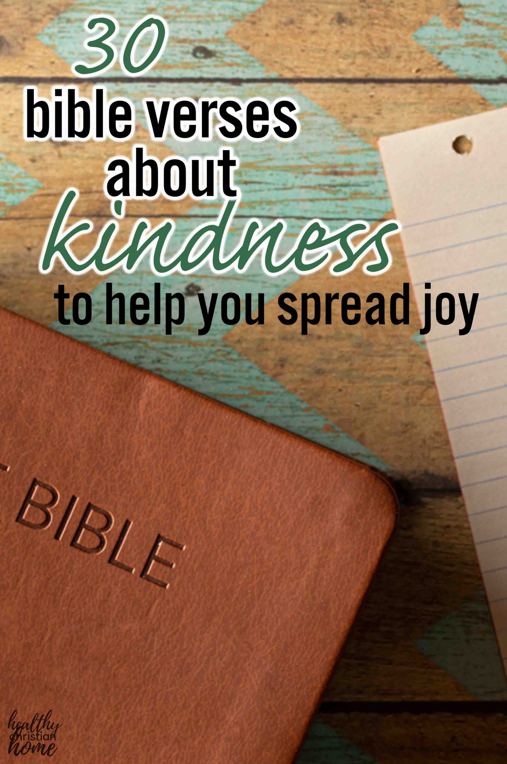 A bible with text that says bible verses about kindness.