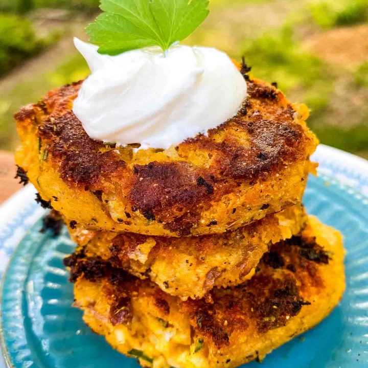 Crispy Rosemary Potato Fritters