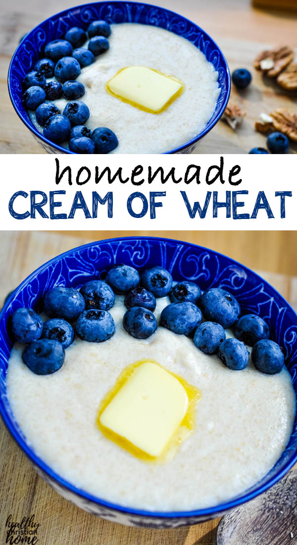 Cream of wheat in a bowl, pinterest image.