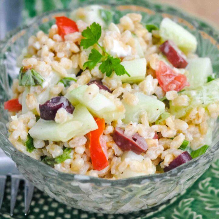 Mediterranean Pearl Barley Salad